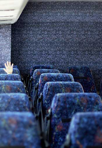 Worried about leaving a student on a bus after a scheduled service?