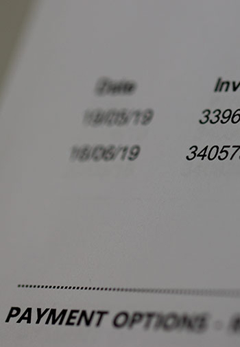 Doubling up entry of invoices?